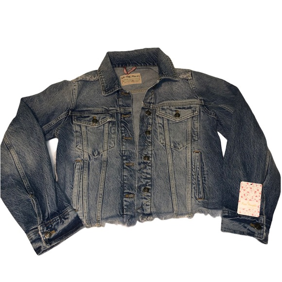 Free people denim jean jacket xs - new